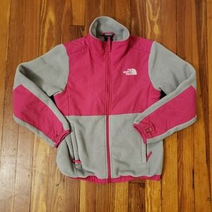 North Face Pink/Gray Youth Medium 10/12 In EXCELLE